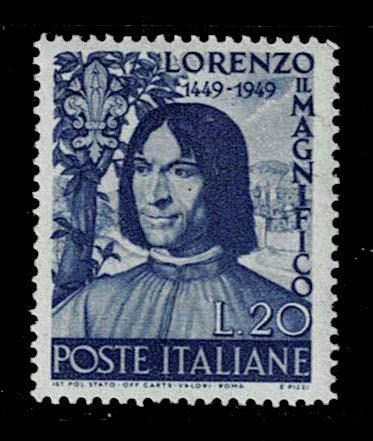 1949 República nascita di Lorenzo il Magnifico SAS.608 MNH/**