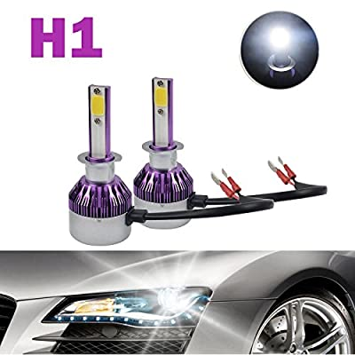 2x DICN 9005 HB3 H10 LED Headlight Conversion Kit Replacement Bulb - 6000K 7200LM - High Beam/Low Beam/Fog Light – Plug and Play 2 Year Warranty