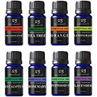 8-Pack Radha Beauty Aromatherapy Top 8 Essential Oil Set