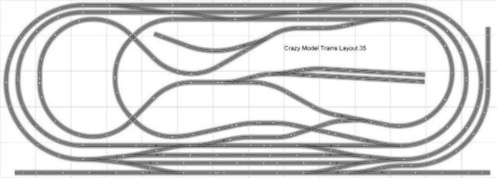 Train Layout #035 Bachmann HO 海外 EZ SALE Track 14' Silver X - 5' Nickel
