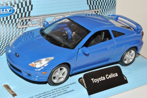 Toyota Celica Coupe Blau T23 1999-2005 ca 1/43 1/36-1/46 Welly Modell Auto
