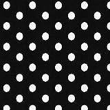 Fabulous Fabrics Jersey schwarz, Punkt, 150cm breit –