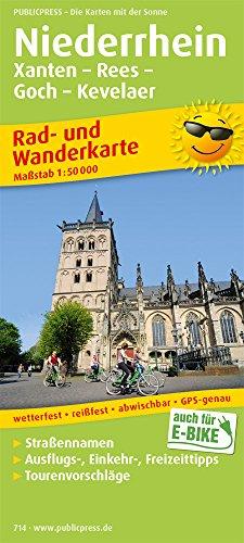 Preisvergleich Produktbild Niederrhein,  Xanten - Rees - Goch - Kevelaer: Rad- und Wanderkarte mit Ausflugszielen,  Einkehr- & Freizeittipps,  wetterfest,  reißfest,  abwischbar,  GPS-genau. 1:50000 (Rad- und Wanderkarte / RuWK)