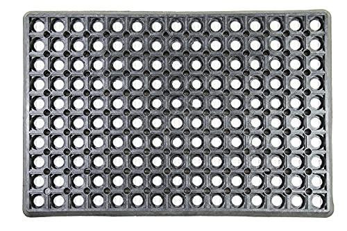 Rubber Fußmatte in der Größe 59 cm x 39 cm als Schmutzfangmatte , Fußabtreter , Türmatte geeignet Für Innen und Außen