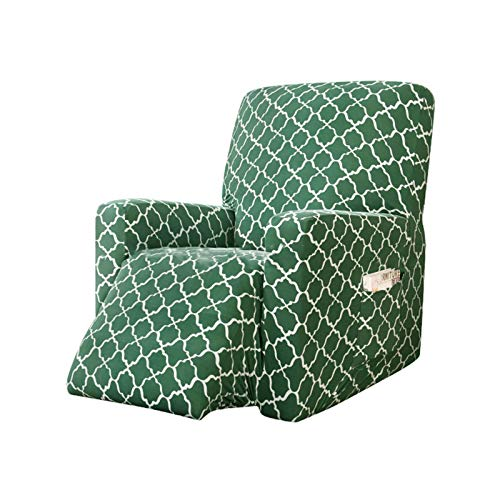 BEIGOO Stretch Rocking Recliner Silpcover Lazy Boy Chair Covers Non-silp for Leather and Fabric Sofa with Side Pocket (Recliner)-Grey-green