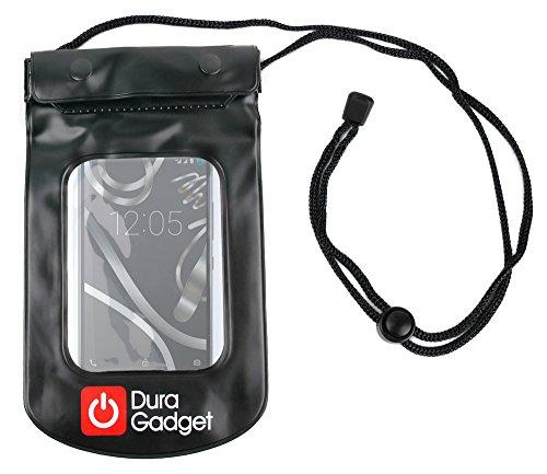 DURAGADGET Funda Impermeable Negra para BQ Aquaris X5 Cyanogen Edition/HP Elite 3 - Ideal para Proteger Su Dispositivo