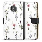 DeinDesign Étui Compatible avec Motorola Moto G5 Étui Folio Étui magnétique Fleurs Produit sous...