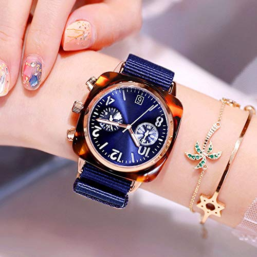 Meisje Horloge Dames Bekijk Net Red Couple Fashion Watch Trend Waterproof Large Dial Quartz Female horloge (Color : 4)