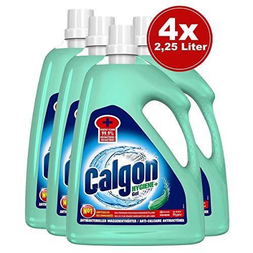 Calgon Hygiene+ Gel - Antibakterieller Wasserenthärter für die Waschmaschine - 4er Pack (4 x 2,25l)