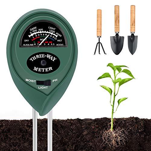 MMTX Soil Moisture Meter, Soil pH Meter 3 in 1 Soil PH Testing Kit with...