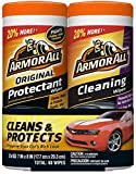 Armor All 18779 Protectant Wipes 30 Count/ Cleaning Wipes 30 Count - 2 Pack Wipes,, 2 Pack
