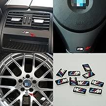 10pcs Self-Adhesive M Tec Sport BADGE STICKER EMBLEM fits BMW M3 M5 M6 Wheel New