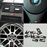 JD PARTS LLC 10pcs Self-Adhesive M Tec Sport Badge Sticker Emblem fits BMW M3 M5...