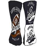 lucies Filles nouveauté drôle chaussettes d'équipage ovale ballon de rugby super ligue bannière universitaire joueur imprimer signe amateur championnat sportswear marque