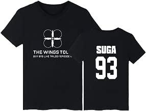 babyhealthy BTS The Wings Tour Same Style T-Shirt Jung Kook Jimin V Tee Shirt