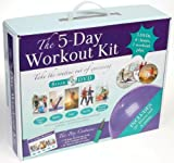 The 5 Day Workout Kit / DVD, Book, Fitness Ball, Yoga & Exercise Plan