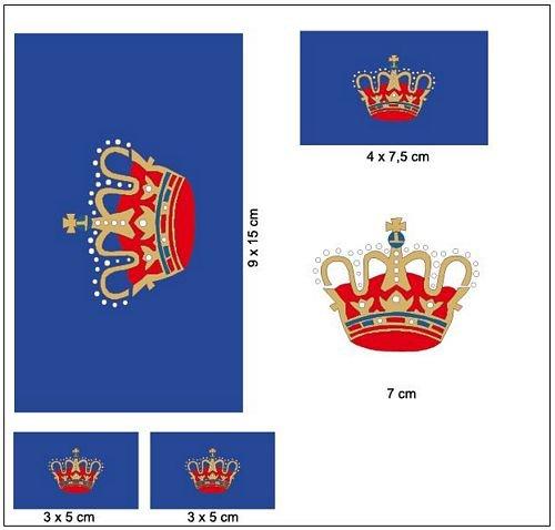 Aufkleber Set Fehmarn Fahne Flagge