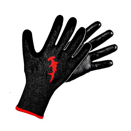 Hammerhead Spearguns Dentex Gloves - Cut Resistant (Lv5) and Puncture Resistant (Lv3) (Small, Polyurethane)