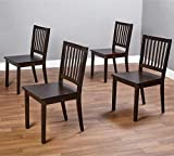 Slat Espresso Wooden Dining Chairs (Set of 4). A Good Dining Chair Compliments Your Dining Room Furniture. Four Of These Dining Room Chairs Will Enhance Your Dining Tables. Guaranteed. This Set Of 4 Dining Chairs Will Add Style To Your Dining Furniture Or Work Well As Kitchen Chairs.