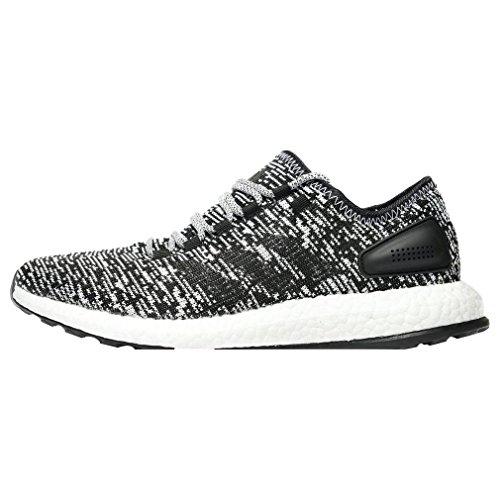 adidas Pureboost Mens Running Trainers Sneakers (UK 10 US 10.5 EU 44 2/3, core Black White BA8890)