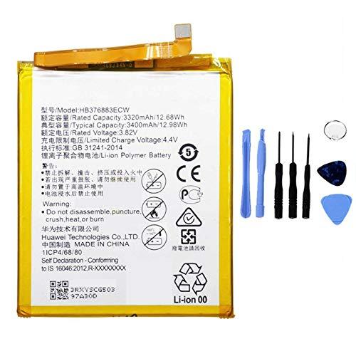 Ellenne Batería compatible con Huawei HB376883ECW para P9 Plus de alta capacidad 3400 mAh con kit de desmontaje incluido
