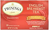 Twinings Decaffeinated English Breakfast Tea, 20 ct