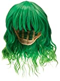 Alacos Fashion 35cm Short Curly Bob Anime Cosplay Wig Daily Party Christmas Halloween Synthetic Heat Resistant Wig for Women +Free Wig Cap (Bright Green Ombre)