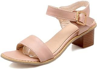 BalaMasa Womens ASL06879 Pu Block Heels