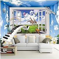 Xbwy 装飾壁画の壁紙漫画の動物の世界の子供部屋の背景の壁画-280X200Cm