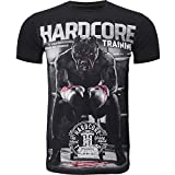 Hardcore Training The Moment of Truth T-Shirt Men's Camiseta Hombre Fitness Workout Ejercicio Corriendo Running Ropa Basica Deportiva