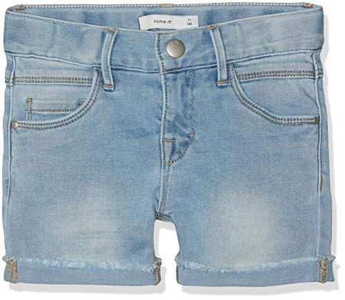 Name IT NOS Mädchen Shorts NKFSALLI DNMTIMONE 1156 NOOS, Blau (Light Blue Denim), (Herstellergröße: 158)