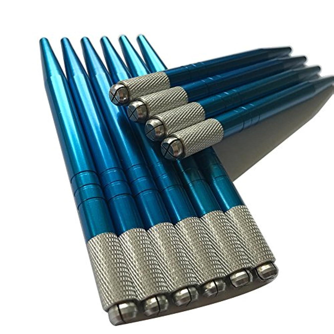 Microblading Pen Blue Color 10pcs Wholesale Permanent Makeup Manual Eyebrow Tattoo Supplies -QMYBrow
