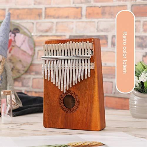 Kalimba, Daumenklavier 17 Keys Kalimba Daumenklavier Mahagoni Musikinstrumente Mbira calimba mit Hammer Sticker Kit for Kind Anfänger (Color : B)