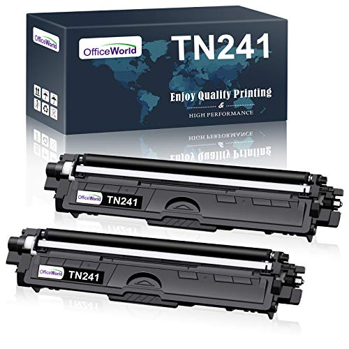 OFFICEWORLD TN-241 Toner Compatible para Brother TN241 TN242 para Brother DCP-9020CDW 9015CDW 9020 9022CDW; HL-3170CDW 3140CW 3150CDW 3142CW 3172CDW; MFC-9340CDW 9140CDN 9330CDW 9332CDW (2 Negro)