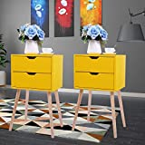 JAXPETY Set of 2 Nightstand 2 Drawers End Table...