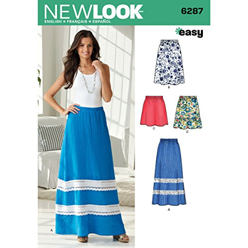 Simplicity Creative Patterns New Look 6287 Misses' Pull On Skirt in Four Lengths, A (10-12-14-16-18-20-22)