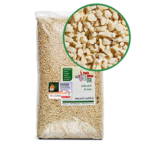 Paul´s Mühle Erdnüsse für Vögel, Erdnusskerne gehackt, 10 kg