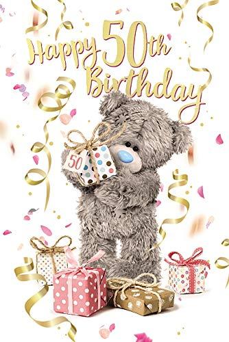 Me To You Geburtstagskarte zum 50. 50. Geburtstag mit Hologrammbär, 3D-Hologrammbär, Teddybär