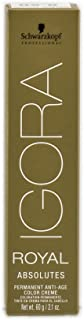 Schwarzkopf Professional Igora Royal Absolutes Permanent Anti-age Color Creme 4-50, Medium Brown Gold Natural, 2.1 Ounce