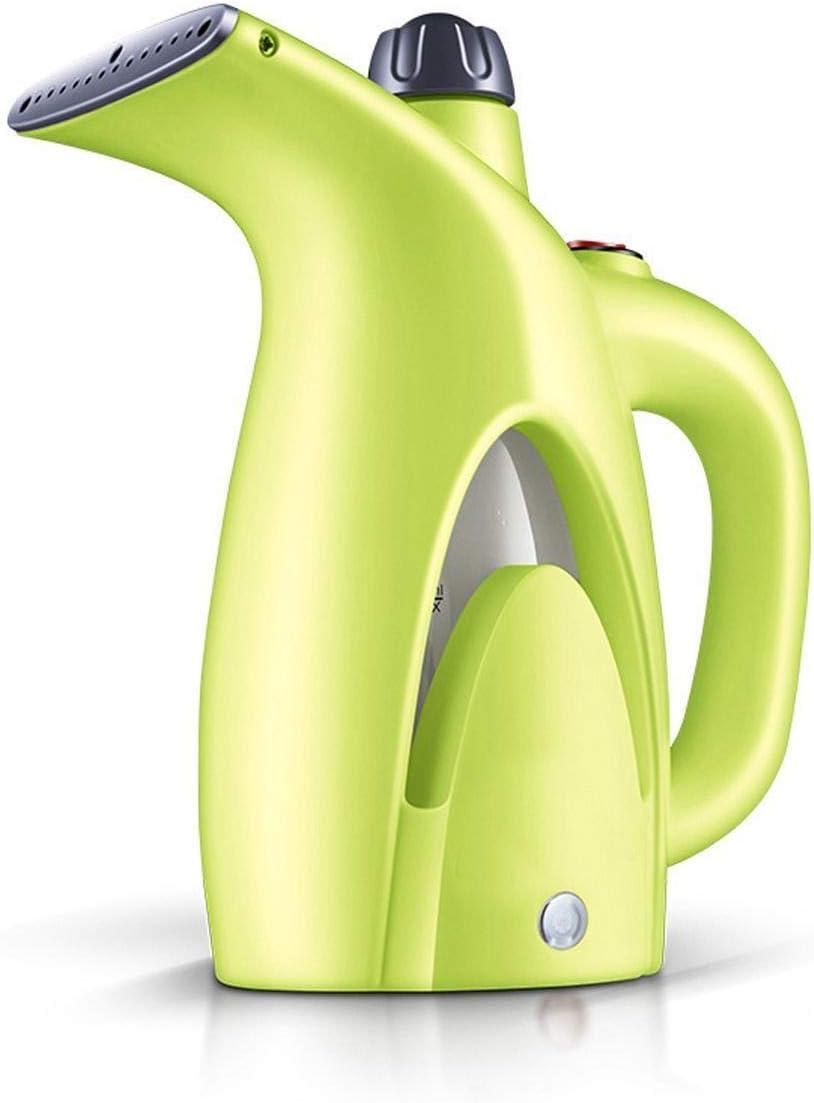 QSCTYG Plancha de Vapor Vertical Mini Ropa de Vapor de Hierro portátiles de Limpieza Cepillo for la Ropa del Aparato electrodoméstico portátil de Viaje Trajes de Vapores Ropa 486 (Color : Green)