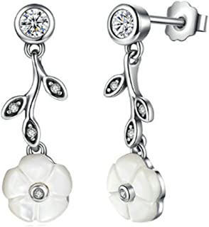 925 Sterling Silver Luminous Florals Stud Earrings