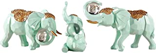 MEI XU Crafts - European Three-Piece Elephant Ornaments Home Living Room Wine Cabinet Decorations Moving New Home Gifts Lu...