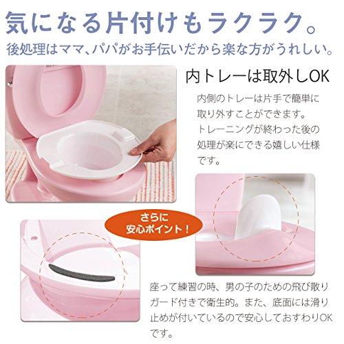 日本育児トイレトレーナーマイサイズポッティピンク18ヶ月~23kgまで対象