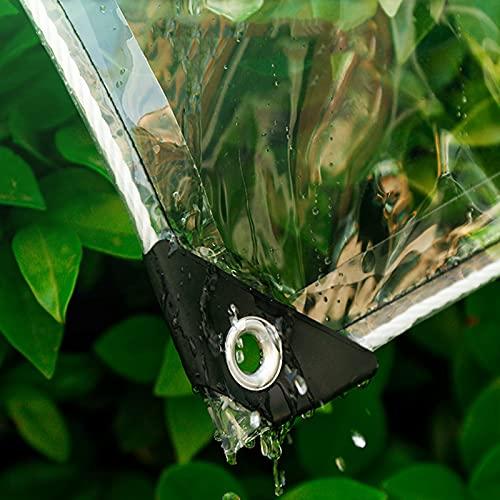 XXIOJUN Tarpaulina Transparente Balcón para el hogar Artifact Anti-lágrima Metal Ojo para césped, balcón, Techo (Color : Claro, Size : 1x1m)