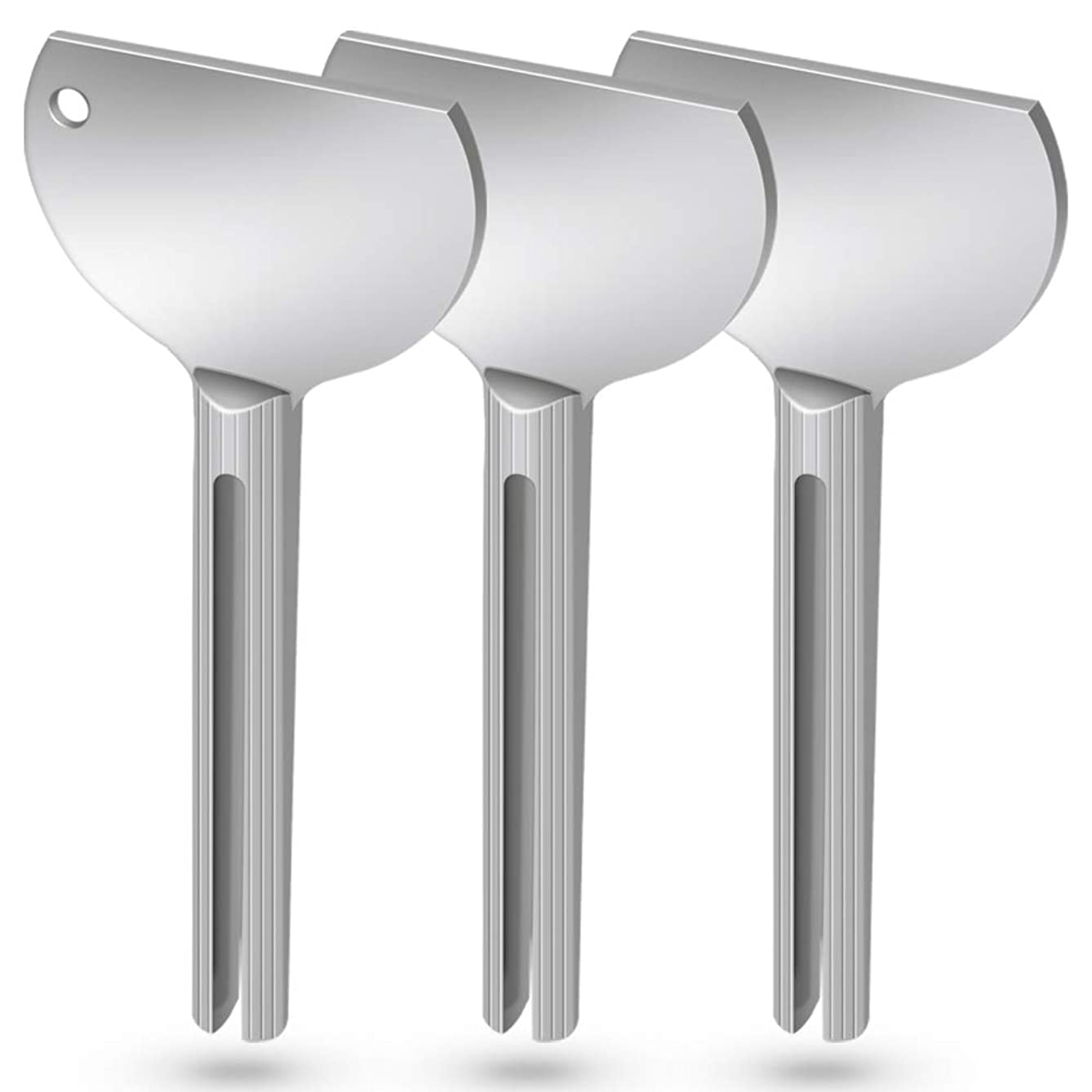 Toothpaste Squeezer, 3 Pack Metal Tube Squeezer Toothpaste Dispenser Hair Dye Color Key Roller Squeezers