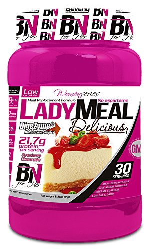 Beverly Nutrition Lady Meal Delicious Proteína Concentrada Mujer Sabor Tarta de Queso Fresa - 1000 gr