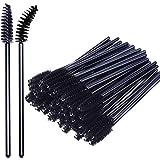 Bacchette usa e getta per mascara, 50 confezioni di pennelli per ciglia cosmetiche, colore nero