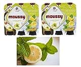 Moussy Lemon Mint Malt Beverage Non Alcoholic Drink - Pack of 12 Glass Bottles 330ML موسي شراب شعير بنكهة الليمون و النعناع