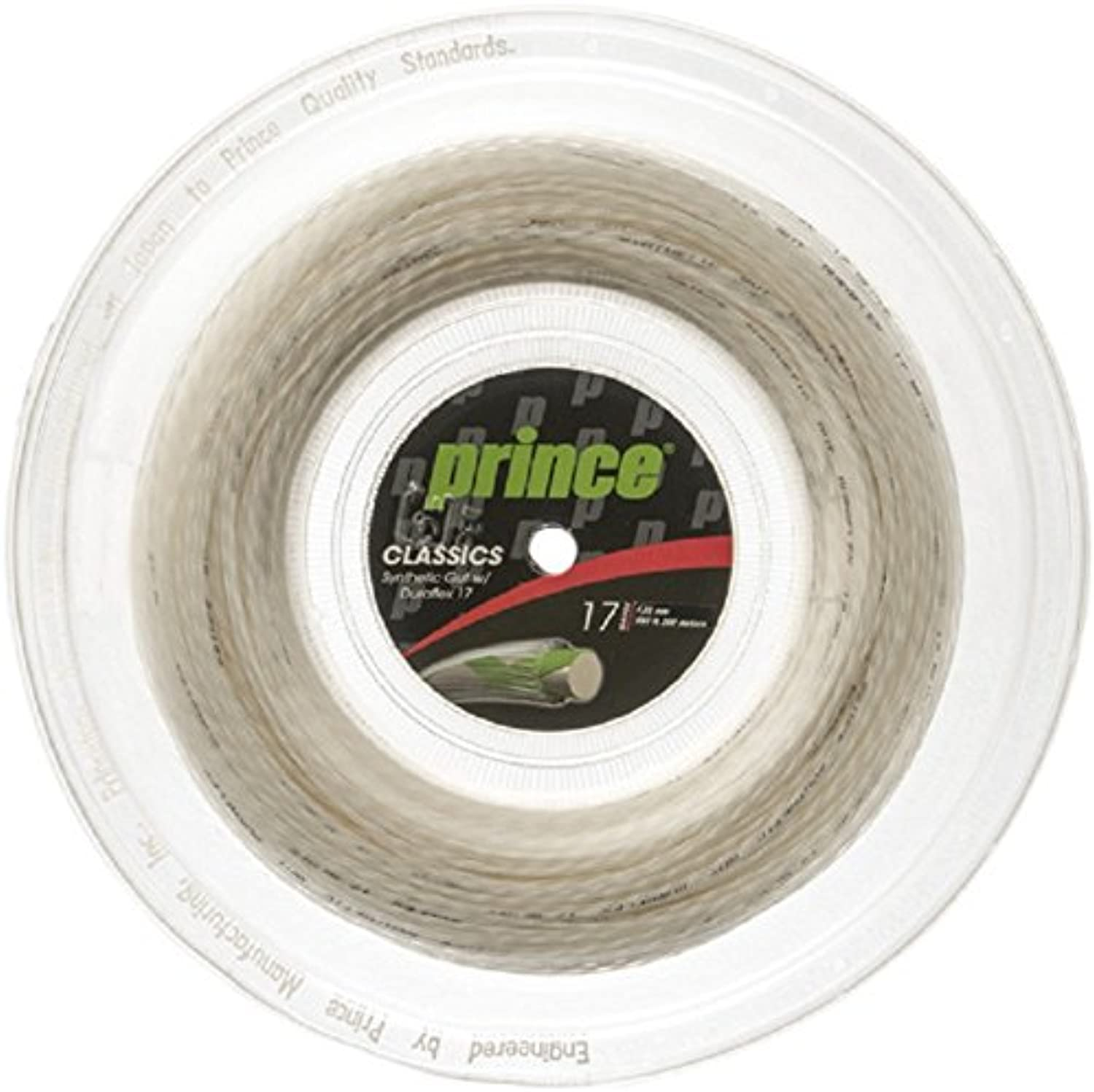 Prince Synthetic Gut with Duraflex 17g White Tennis String Reel