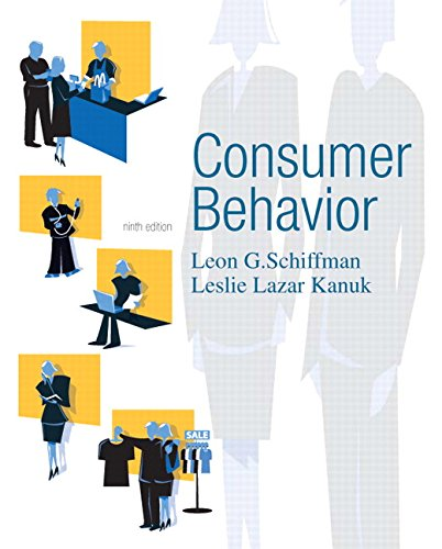 Compare Textbook Prices for Consumer Behavior 9 Edition ISBN 9780131869608 by Schiffman, Leon,Kanuk, Leslie